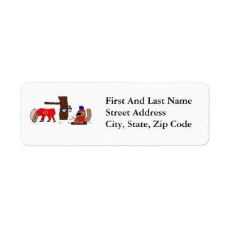 Canada Moose Syrup Beaver Return Address Label