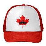 Canada Moustache - A moustache on red maple Cap