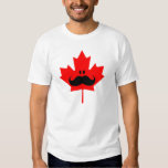 Canada Moustache - A moustache on red maple Tees