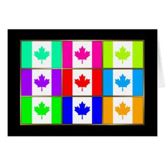 Canada Multihue Flags Greeting Card