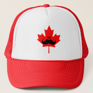 Canada Mustache - A mustache on red maple Trucker Hat