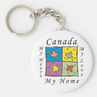 Canada My Home Key Ring