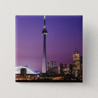 Canada National Tower, Toronto, Canada 15 Cm Square Badge