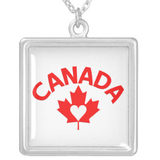 Canada necklace, customize silver plated necklace