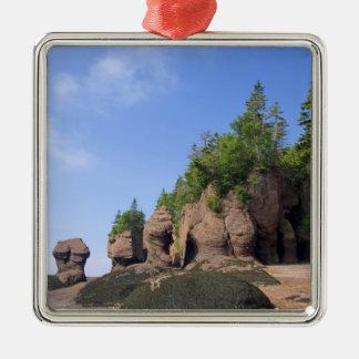 Canada, New Brunswick, Hopewell Cape, Bay of Silver-Colored Square Decoration