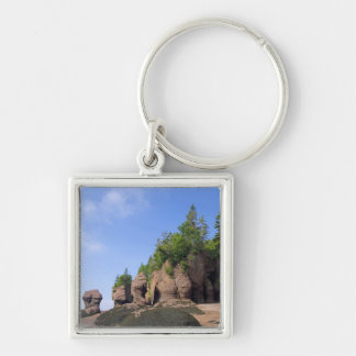 Canada, New Brunswick, Hopewell Cape, Bay of Silver-Colored Square Key Ring