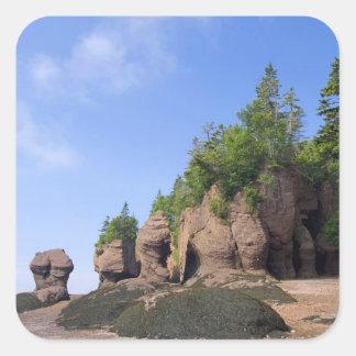Canada, New Brunswick, Hopewell Cape, Bay of Square Sticker