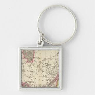 Canada, New Brusnwick, and Nova Scotia Silver-Colored Square Key Ring