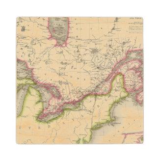 Canada, New Brusnwick, and Nova Scotia Wood Coaster