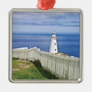 Canada, Newfoundland, Cape Spear National 2 Silver-Colored Square Decoration