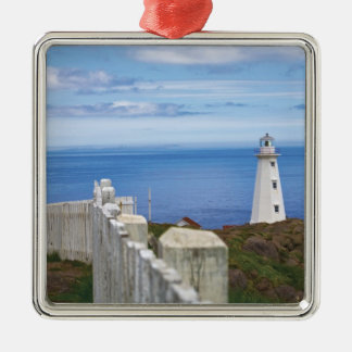 Canada, Newfoundland, Cape Spear National 3 Silver-Colored Square Decoration