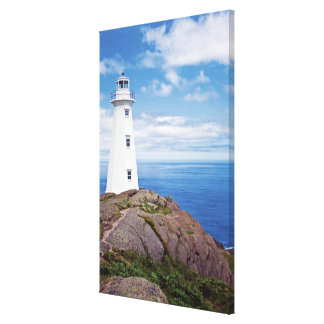 Canada, Newfoundland, Cape Spear National Stretched Canvas Print