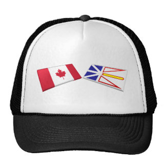 Canada & Newfoundland Flag Tiles Cap