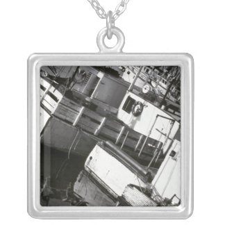 Canada, Nova Scotia, Digby. Fishing boats Silver Plated Necklace