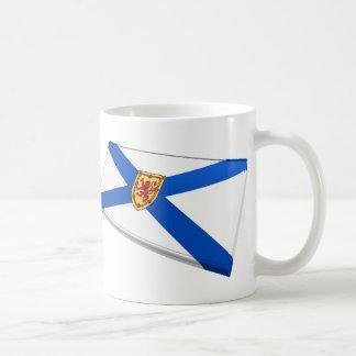 Canada & Nova Scotia Flag TIles Coffee Mug
