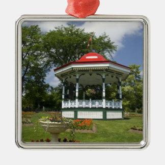 Canada, Nova Scotia, Halifax, Public Gardens. 2 Silver-Colored Square Decoration