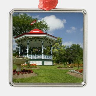 Canada, Nova Scotia, Halifax, Public Gardens. Silver-Colored Square Decoration