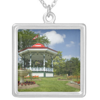Canada, Nova Scotia, Halifax, Public Gardens. Silver Plated Necklace