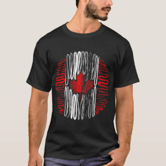 Canada on Black Tee Shirt