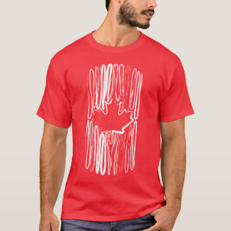 Canada on Red Tee Shirt