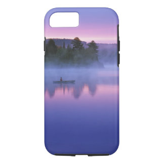 Canada, Ontario, Algonguin Park, Canoeist on iPhone 8/7 Case