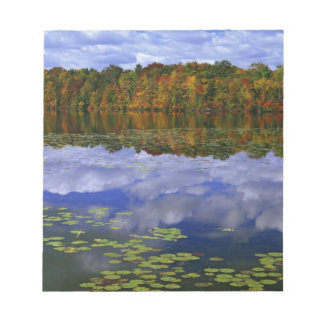 Canada, Ontario. Autumn color reflects in Park Notepad