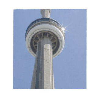 Canada, Ontario, Toronto. Top of CN Tower with Notepad