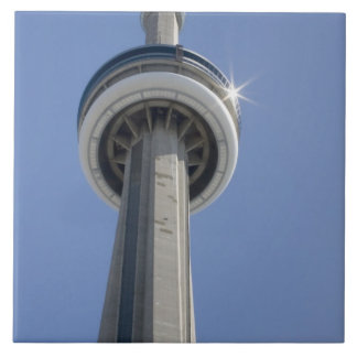 Canada, Ontario, Toronto. Top of CN Tower with Tile