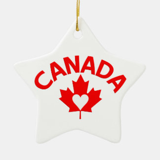 Canada ornament, customize ceramic star decoration