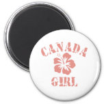 Canada Pink Girl Magnets