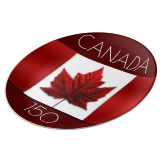 Canada Plates Canada Flag Plates - Customize