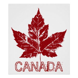 Canada Poster Canada Maple Leaf Souvenir Print