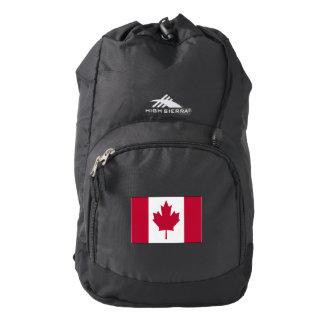Canada Pride Flag High Sierra Backpack, Black Backpack