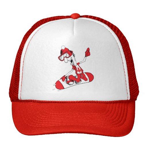 Canada Proud Snow Boarder 1 Mesh Hat