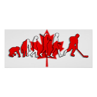 Canada pure gold ice hockey winners gifts poster