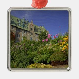 Canada,  Quebec. Charlevoix region, Silver-Colored Square Decoration