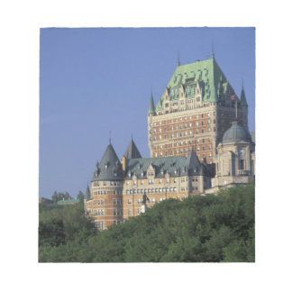 Canada, Quebec City.  Chateau Frontenac. Notepad