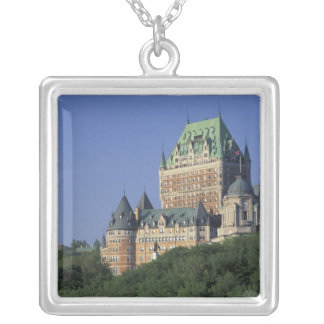 Canada, Quebec City.  Chateau Frontenac. Silver Plated Necklace