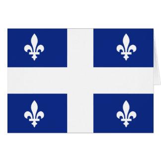 Canada Quebec Flag Card