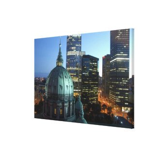 Canada, Quebec, Montreal. Downtown Montreal, Canvas Print
