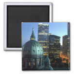 Canada, Quebec, Montreal. Downtown Montreal, Fridge Magnet