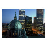 Canada, Quebec, Montreal. Downtown Montreal, Print
