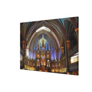 Canada,  Quebec,  Montreal. Interior of Notre 2 Canvas Print