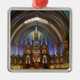 Canada,  Quebec,  Montreal. Interior of Notre 2 Christmas Ornament