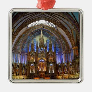 Canada,  Quebec,  Montreal. Interior of Notre 2 Christmas Ornament