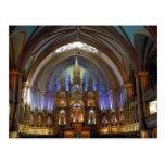 Canada,  Quebec,  Montreal. Interior of Notre 2 Postcard