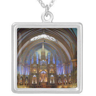 Canada,  Quebec,  Montreal. Interior of Notre 2 Silver Plated Necklace