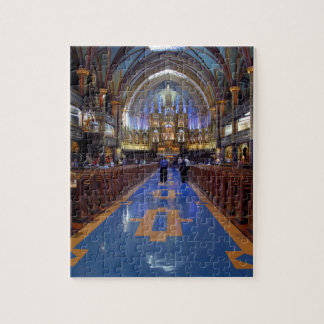 Canada,  Quebec,  Montreal. Interior of Notre 3 Jigsaw Puzzle
