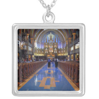 Canada,  Quebec,  Montreal. Interior of Notre 3 Silver Plated Necklace