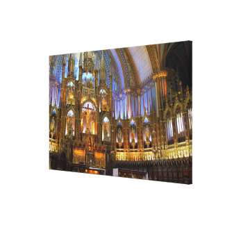 Canada,  Quebec,  Montreal. Interior of Notre Canvas Print